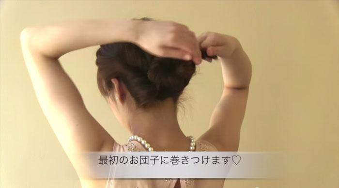 エルサ風の髪型、完成間近♪