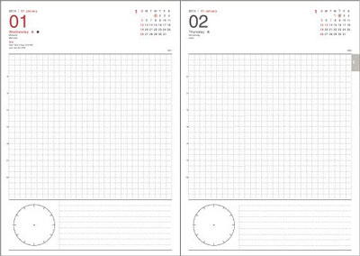 1日1ページタイプのスケジュール帳