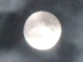 nikonP310で月を撮影(月を拡大)