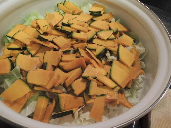 重ね煮ファイトケミカルスープ(2)かぼちゃ