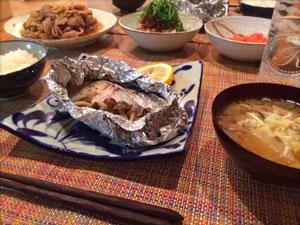 モデル高垣麗子さんの夕食