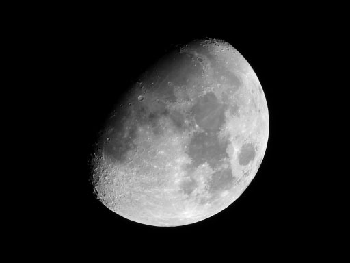 lumix tz60で月を撮影、50倍ズームをトリミング