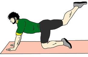 おしり筋トレ:足を高く上げる