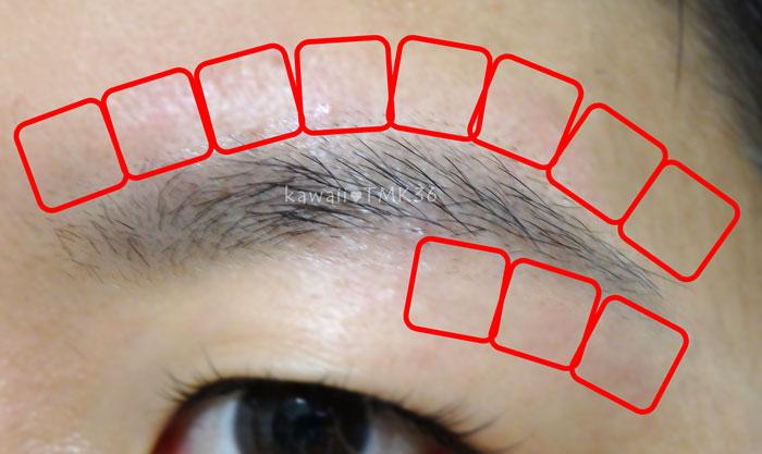 眉毛(眉下&眉上)の脱毛範囲