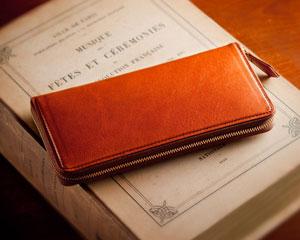 メンズ長財布(ファスナーあり)