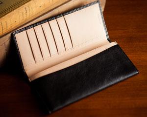 メンズ長財布(ファスナーなし)