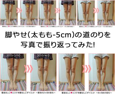 半年分の脚ヤセ過程写真