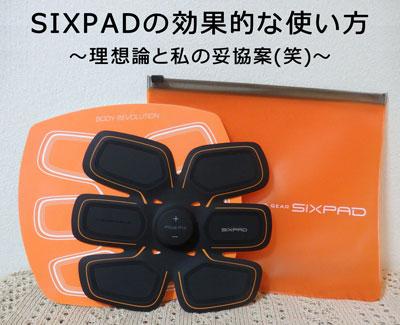 SIXPAD(シックスパッド)の効果的な使い方~理想論と私の妥協案(笑)~