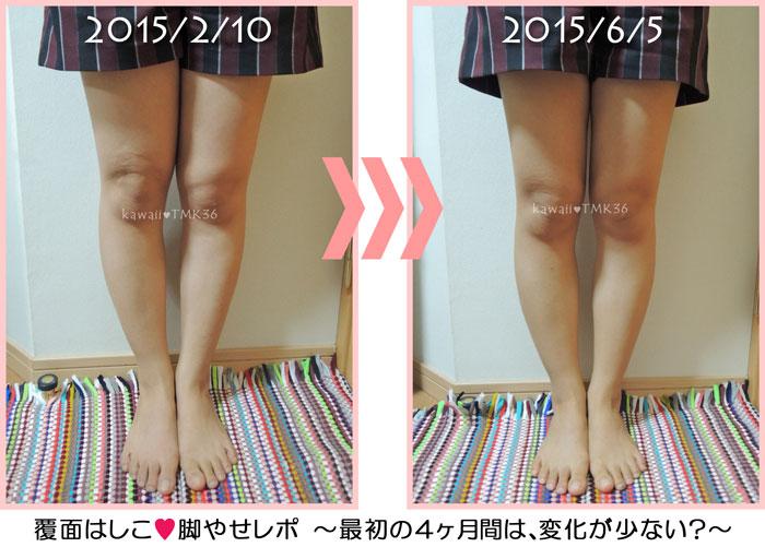 エステで脚痩せダイエット、最初の4ヶ月の変化
