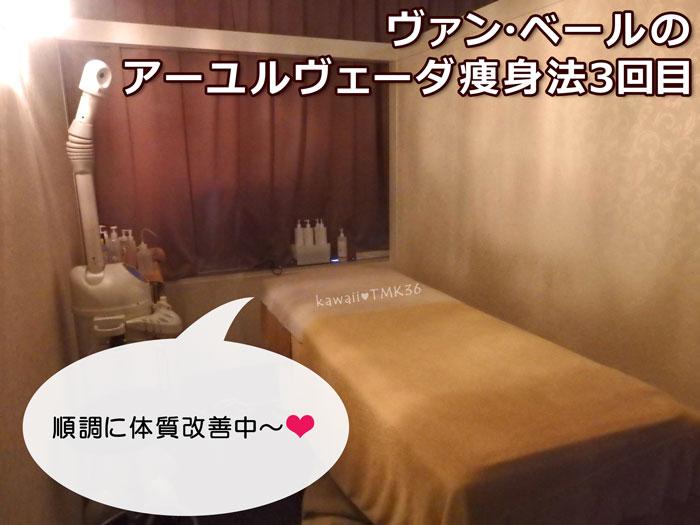ヴァン・ベールのアーユルヴェーダ痩身法3回目☆順調に体質改善中~