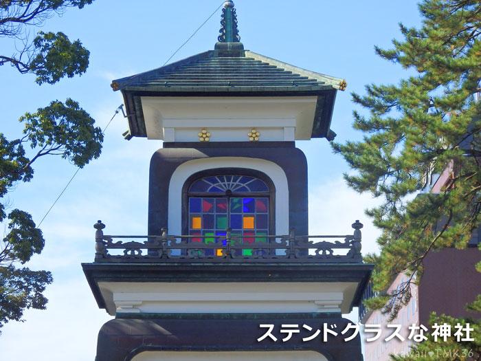 金沢のステンドグラスな神社、尾山神社