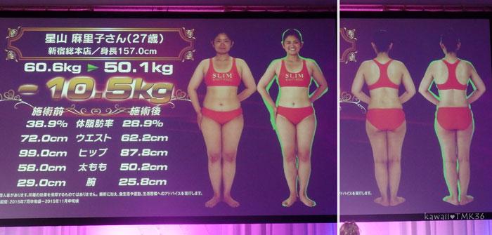 スリムクイーンコンテストで10.5kg痩せた女性