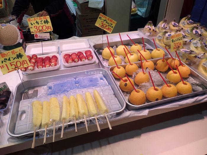 金沢 近江町市場で、フレッシュなフルーツお菓子(笑)