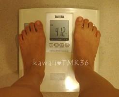 リフィート13回目、施術前の体重