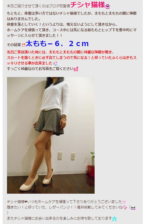 美脚姫としてデビューした時のリフィートブログ記事