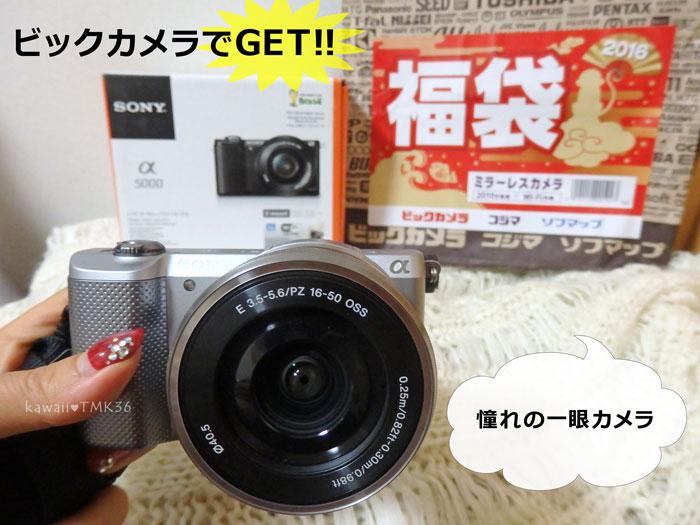 ビックカメラ ミラーレスカメラ福袋2016をGET!!