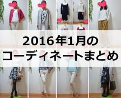 2016年1月のファッションコーディネートまとめ
