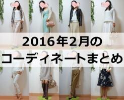 2016年2月のファッションコーディネートまとめ