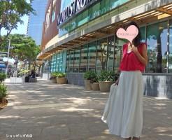 スカンツに、ショッキングピンクのシャツをイン!コーディネート