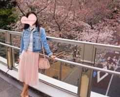 お散歩がてら、桜を見に行く日のコーデ
