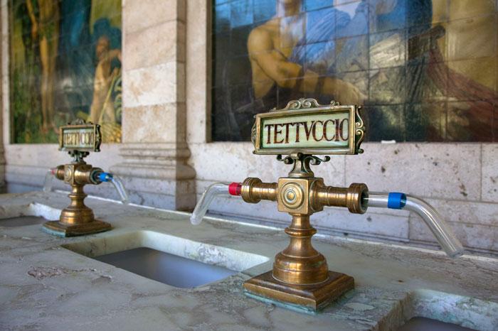 モンテカティーニ・テルメの源泉は、4つ