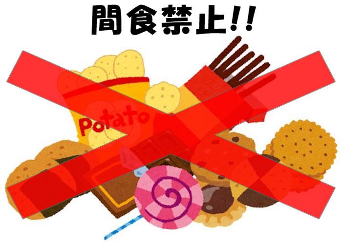 覆面はしこのダイエットメソッド(1)食事編 間食禁止