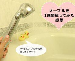 美容水シャワーヘッド Obleu(オーブル)を1週間使ってみた感想。マイクロバブルの効果、出てる?