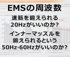 EMSの周波数は、速筋を鍛えられる20Hzがいいのか?インナーマッスルを鍛えられるという50Hz・60Hzがいいのか?