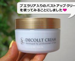 プエラリア・ミリフィカ入りのバストアップクリーム、デコルトクリーム(湘南美容外科)