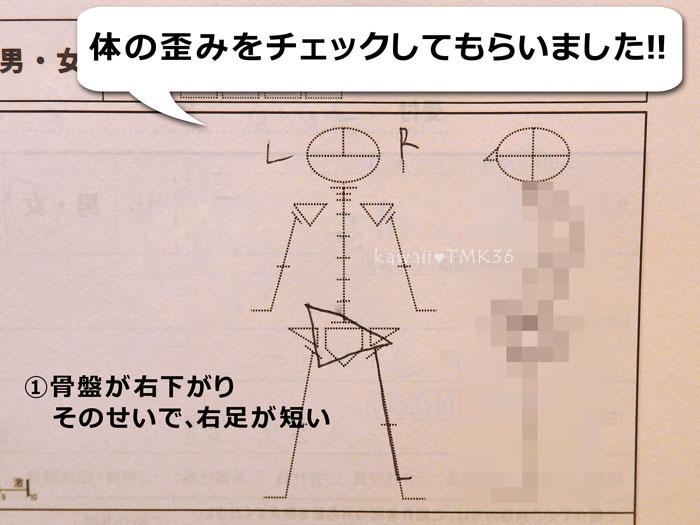 カラダファクトリーで体の歪みチェック(1)