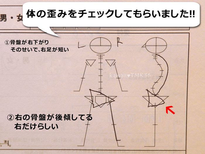 カラダファクトリーで体の歪みチェック(2)
