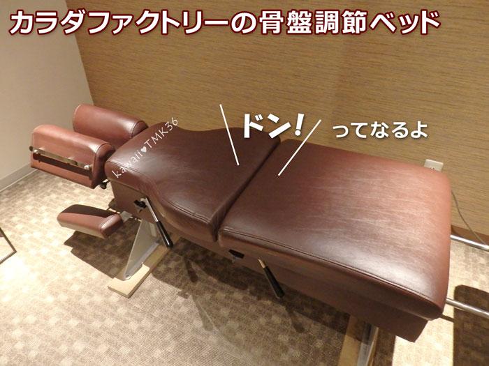 カラダファクトリーの骨盤調整ベッド~ドン!ってなるよ~