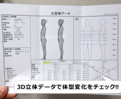 3D立体データで体型変化をチェック!