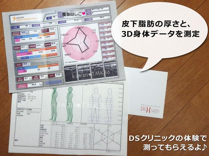 DSクリニックのDS式痩身ドックで、3D身体測定&超音波脂肪厚計測