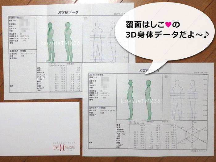 DSクリニックで、3D身体データを測定♪