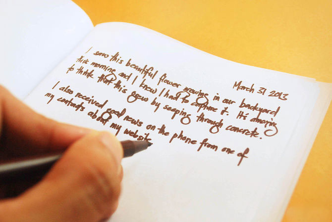 英語で日記をつける