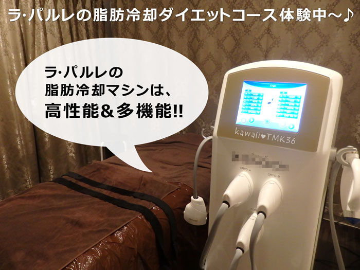 ラ・パルレの脂肪冷却マシンは、Z-SHOCK!